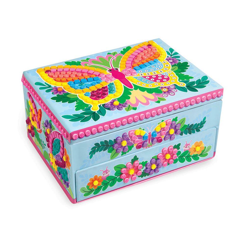 加拿大 Sticky Mosaics - 馬賽克拼貼-珠寶收藏盒-821 pcs