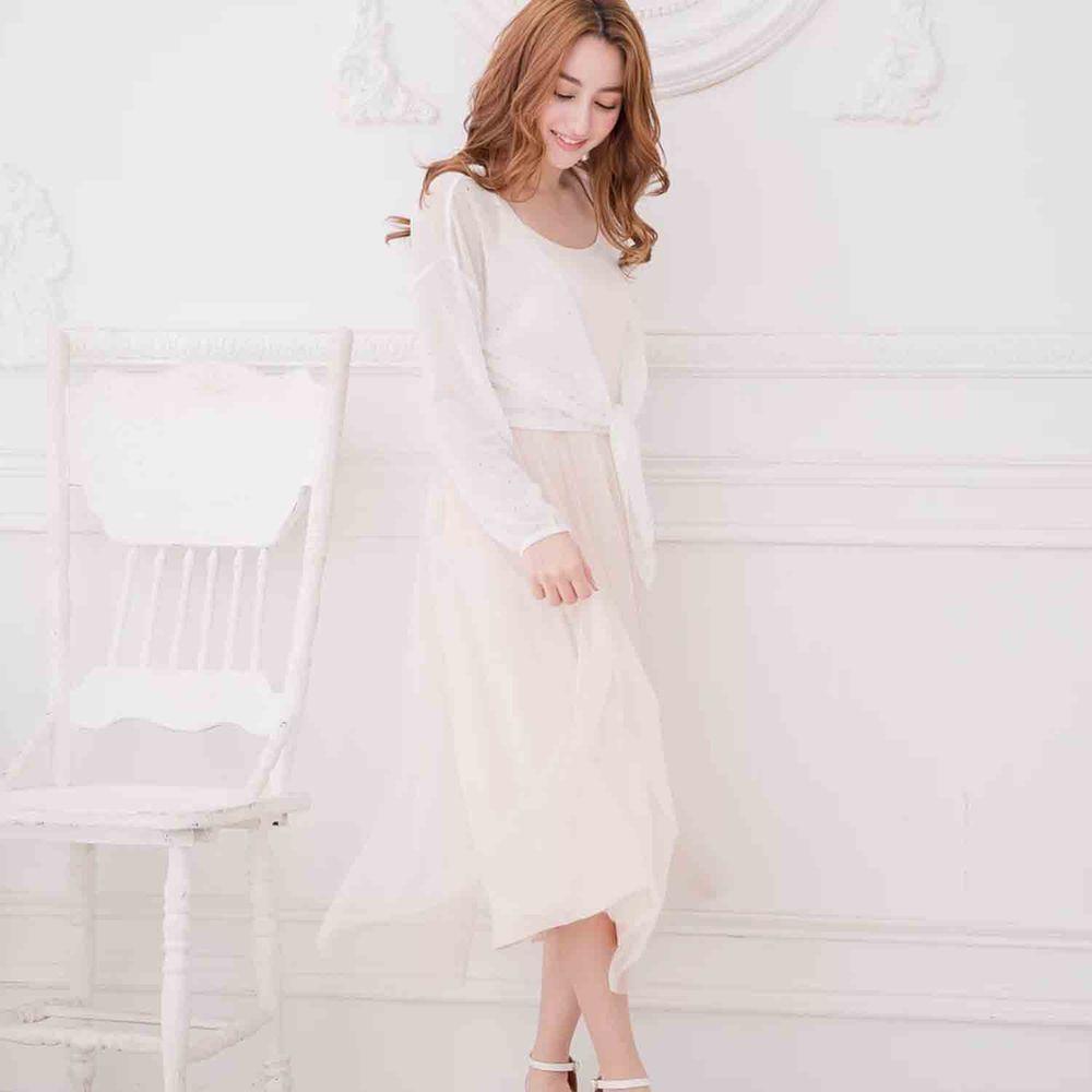 Peachy - 獨家訂製綿柔連身紗裙-細肩帶連身款-氣質杏 (F)