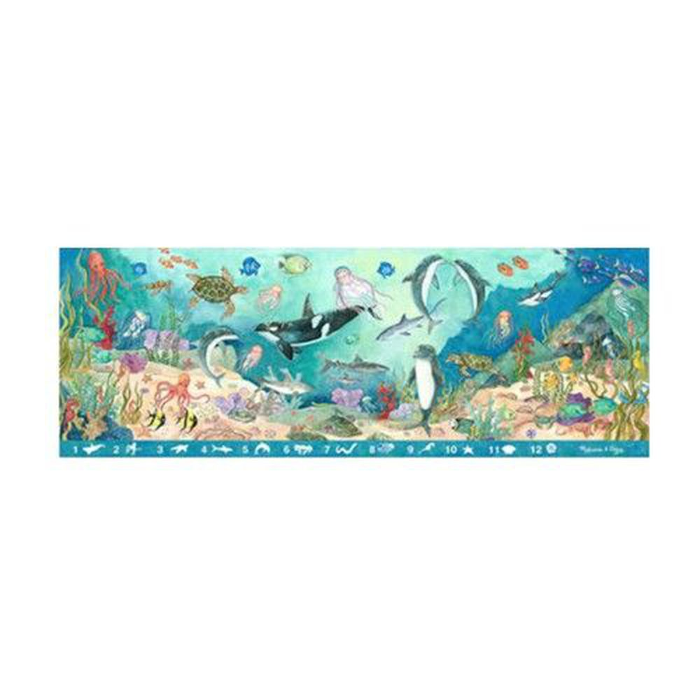 美國瑪莉莎 - MD 地板拼圖-找找看海底動物-48 片