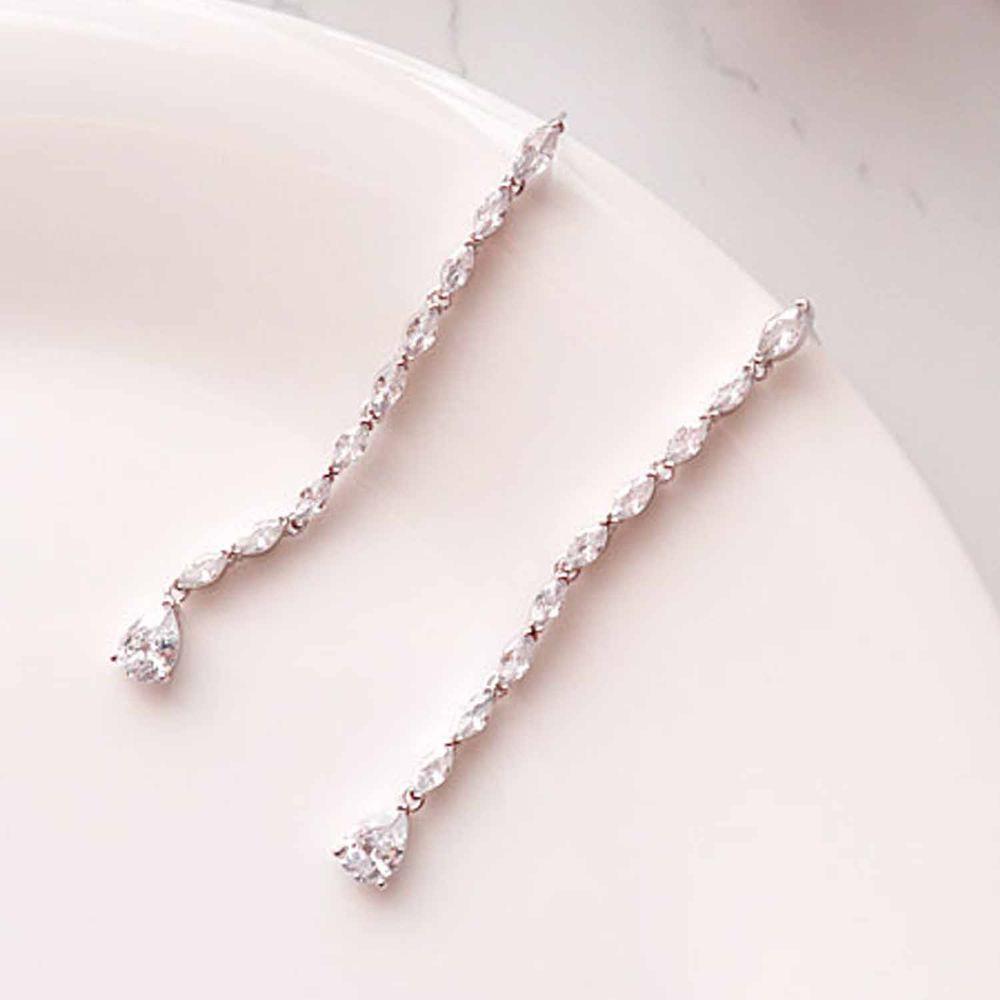 韓國製 - (925純銀)<愛的迫降>孫藝珍同款耳環-銀河戀-銀