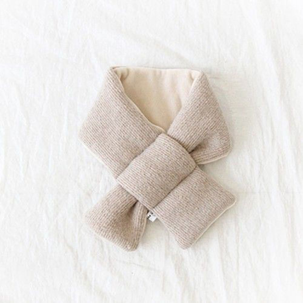 韓國 Babyblee - 鋪棉圍巾-杏 (FREE)