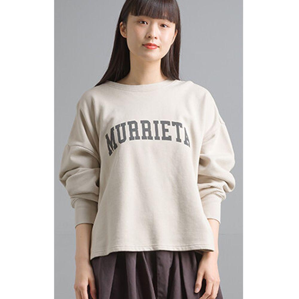 日本女裝代購 - 側邊拉鍊開衩純棉裏毛上衣-象牙白