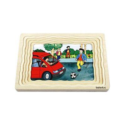 多層木拼圖-交通安全