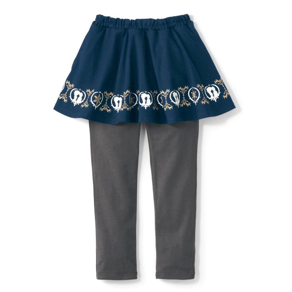日本千趣會 - 迪士尼印花內搭褲裙-冰雪奇緣-深藍灰