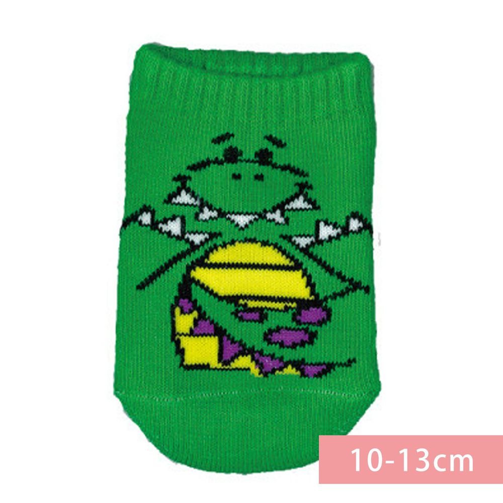 日本 OKUTANI - 童趣日文插畫短襪-恐龍-綠 (10-13cm(1-3y))