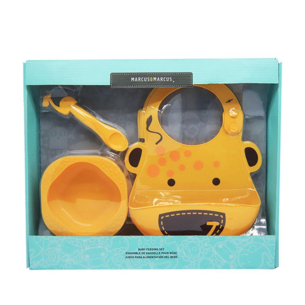 MARCUS&MARCUS - 動物樂園餵食禮盒組-黃長頸鹿