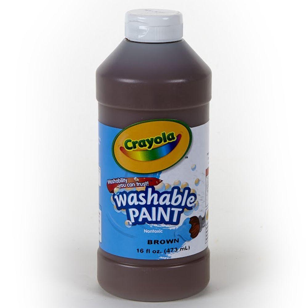Crayola繪兒樂 - 可水洗兒童顏料16OZ-棕色