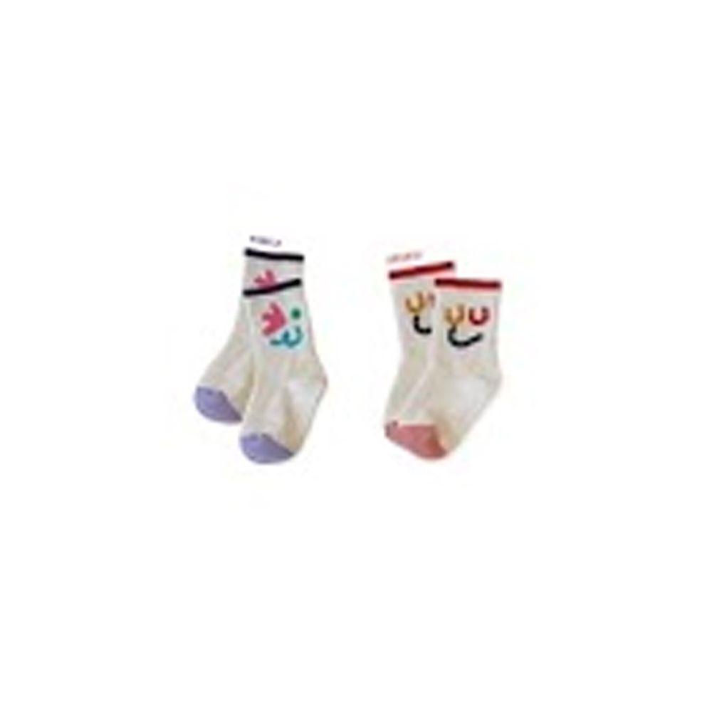 韓國 Kokacharm - 韓國製踝襪-二件組-Wink Wink