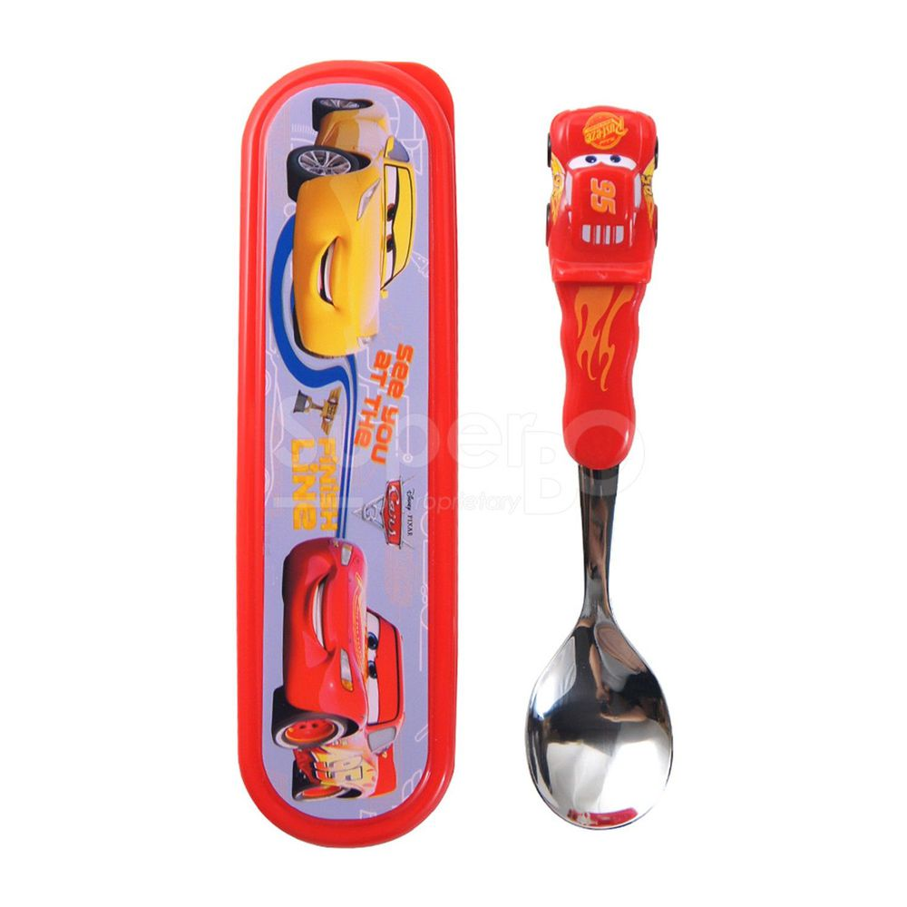 Disney - 3D造型湯匙-閃電麥昆(附盒)