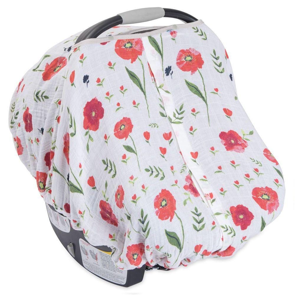 美國 Little Unicorn - 純棉紗布提籃罩-夏日花漾