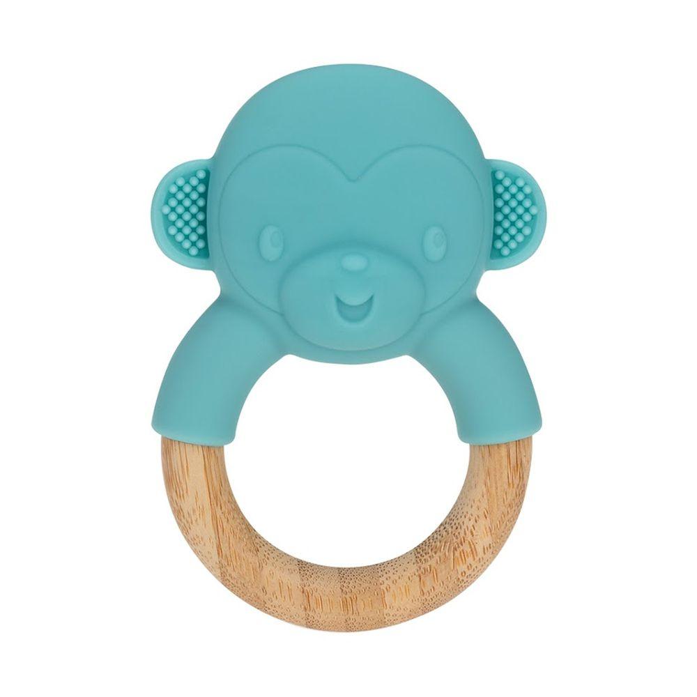 Nuby - 矽膠造型櫸木固齒器-小猴子