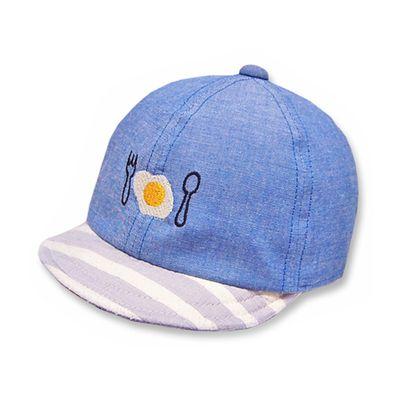日本製可愛荷包蛋棒球帽(附彈性帽帶)-藍