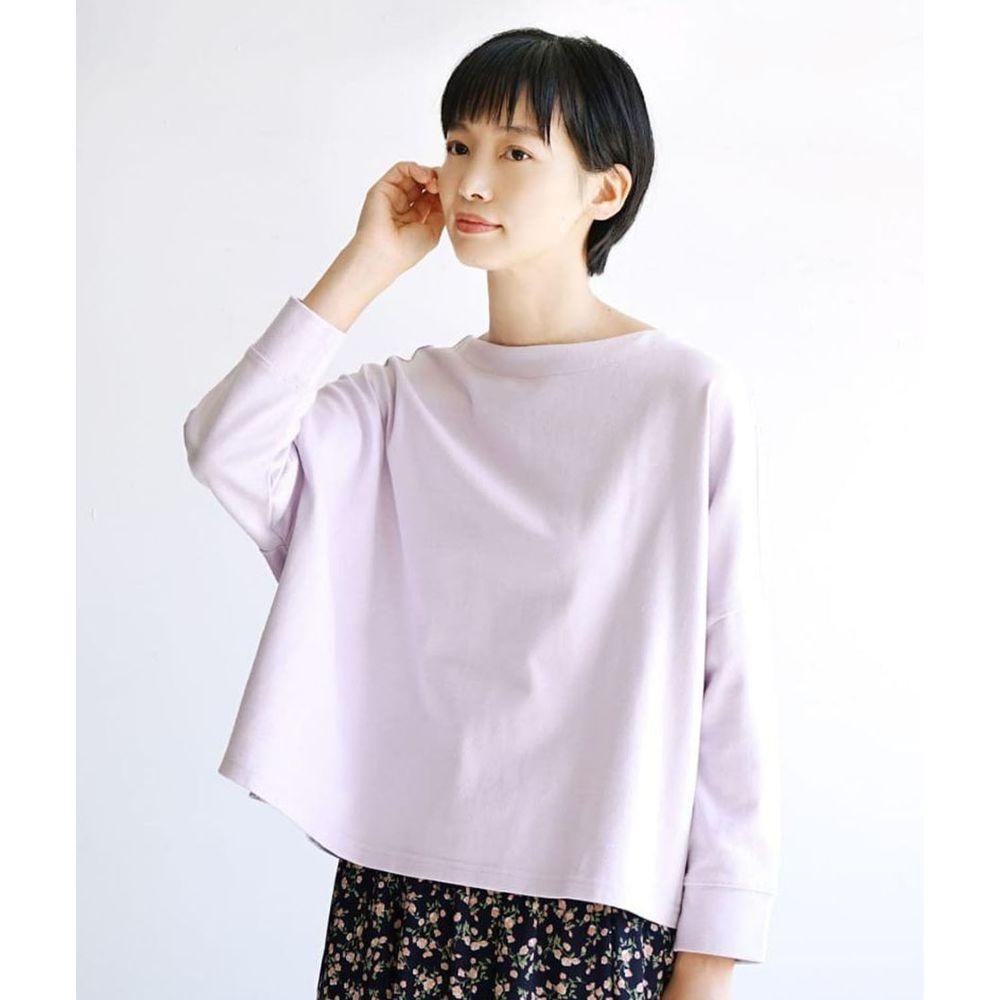 日本 zootie - [撥水/撥油加工] 抗油污耐洗純棉長袖上衣-薰衣草