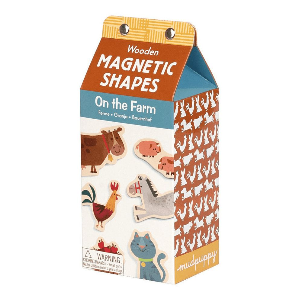 美國 mudpuppy - 木質磁鐵組-農場組-30-40片