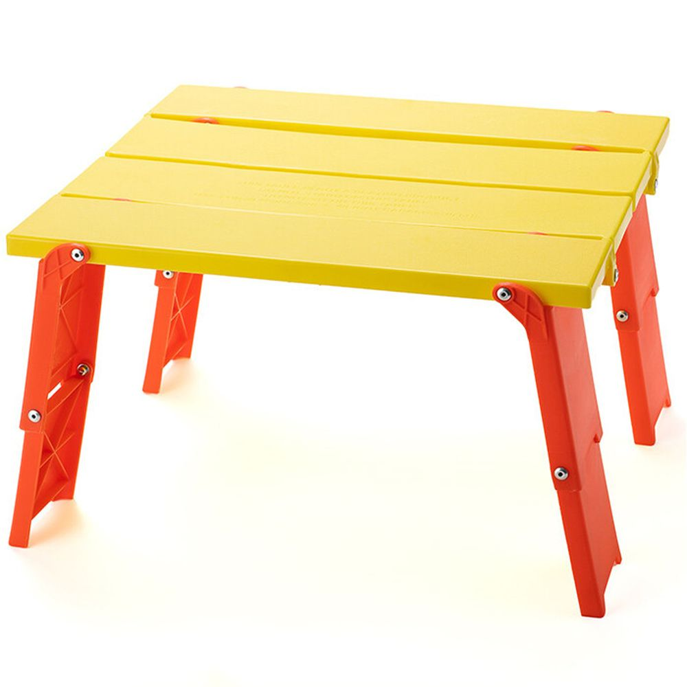 日本代購 - 兩階段輕便摺疊桌-橘黃