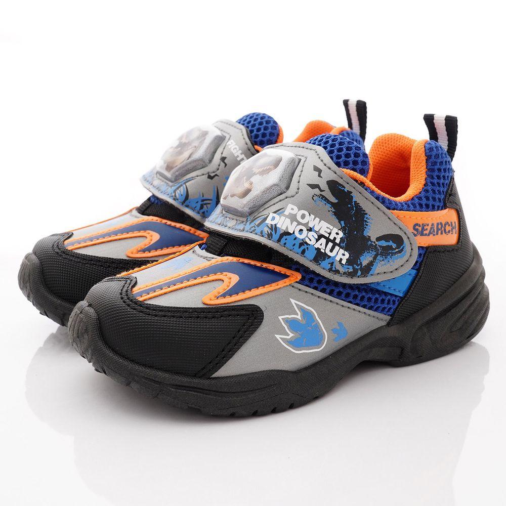 侏羅紀世界 - 恐龍電燈鞋款(中小童段)-鐵灰