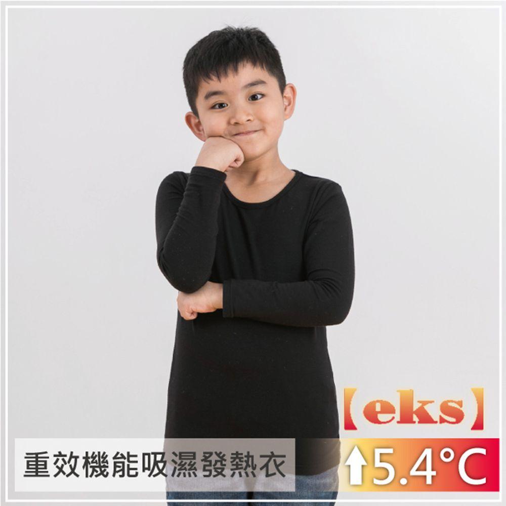 貝柔 Peilou - 貝柔EKS重效機能發熱保暖衣-童圓領-黑色