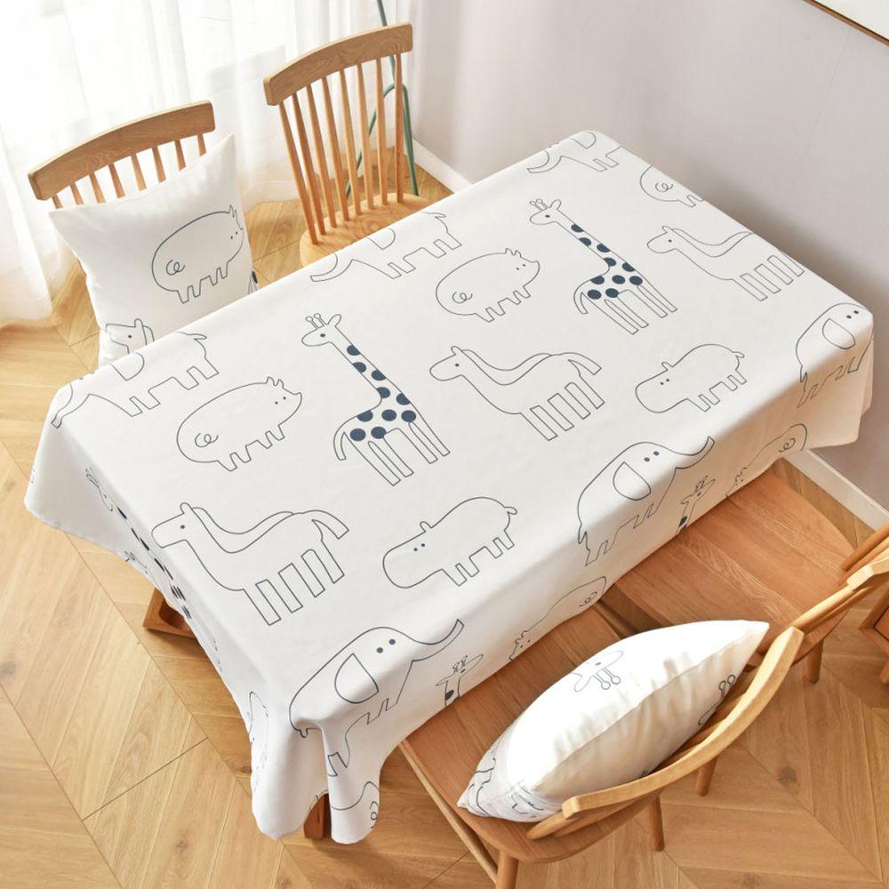 防水防髒桌布-可愛線條動物