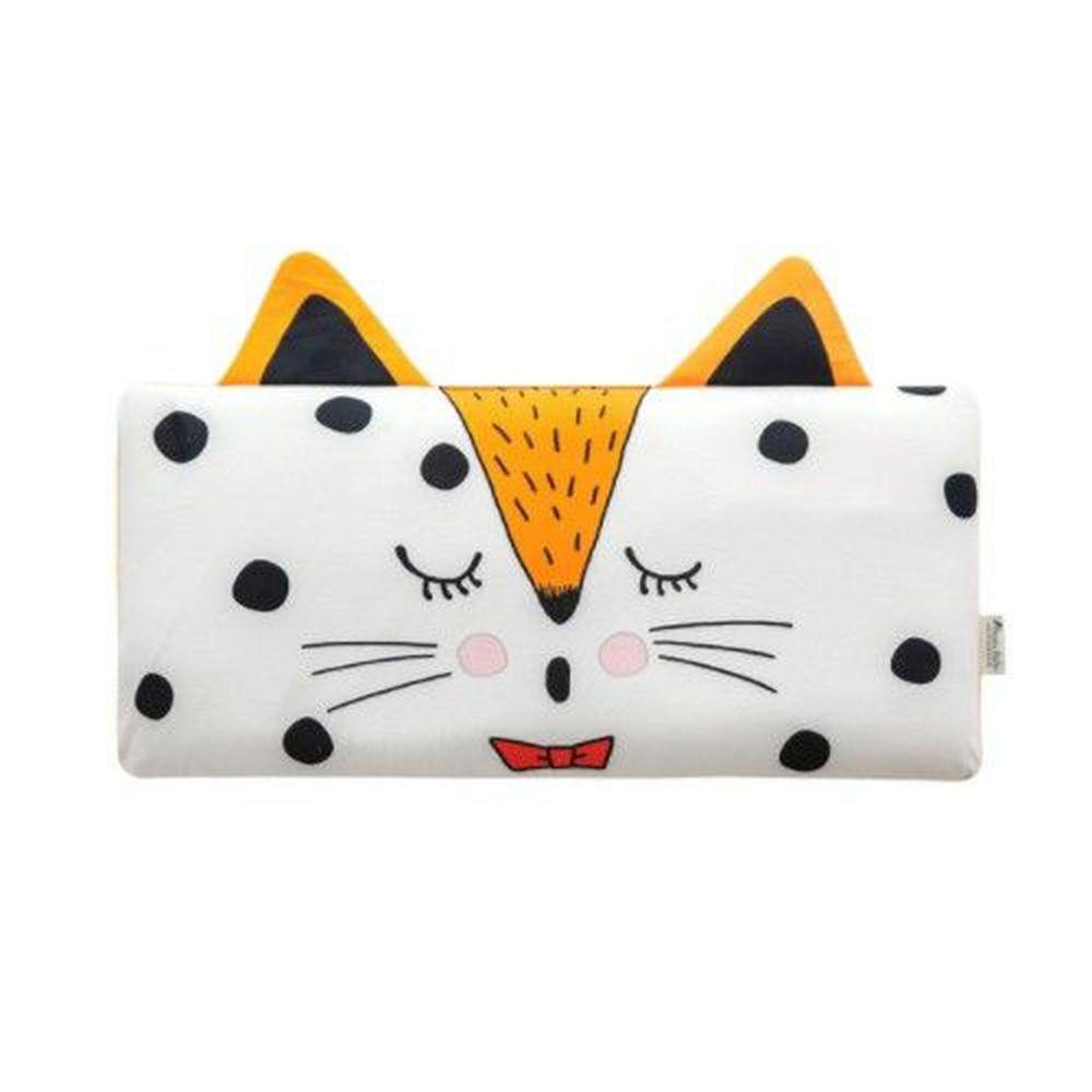 韓國 Bonitabebe - 3D Air Mesh 三段式可調高兒童涼枕-斑點貓咪 (59*29公分)-3D Air Mesh填充枕3個+枕頭套1個