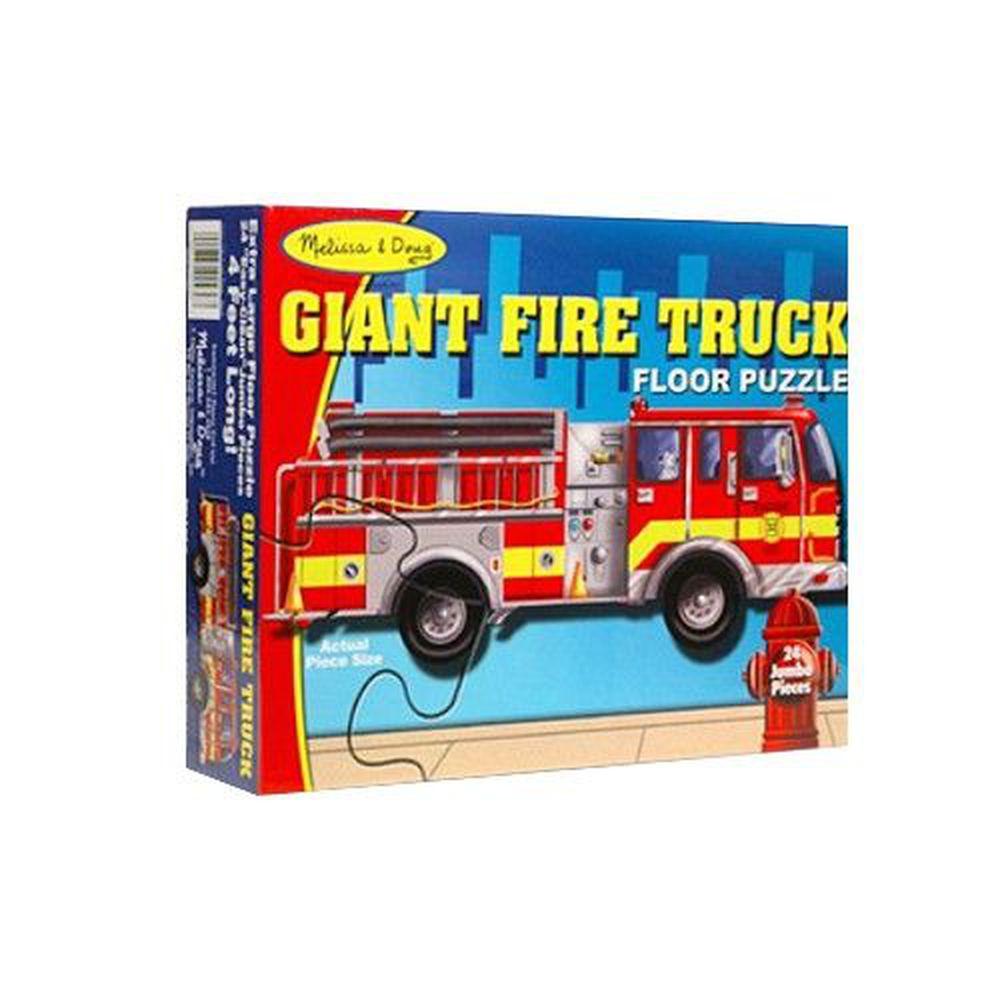 美國瑪莉莎 Melissa & Doug - MD 地板拼圖-巨型消防車-24 片
