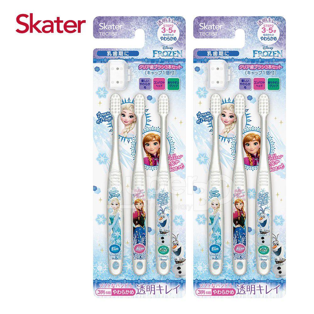 日本 SKATER - 兒童牙刷(3-5歲)組合 共6支-冰雪奇緣