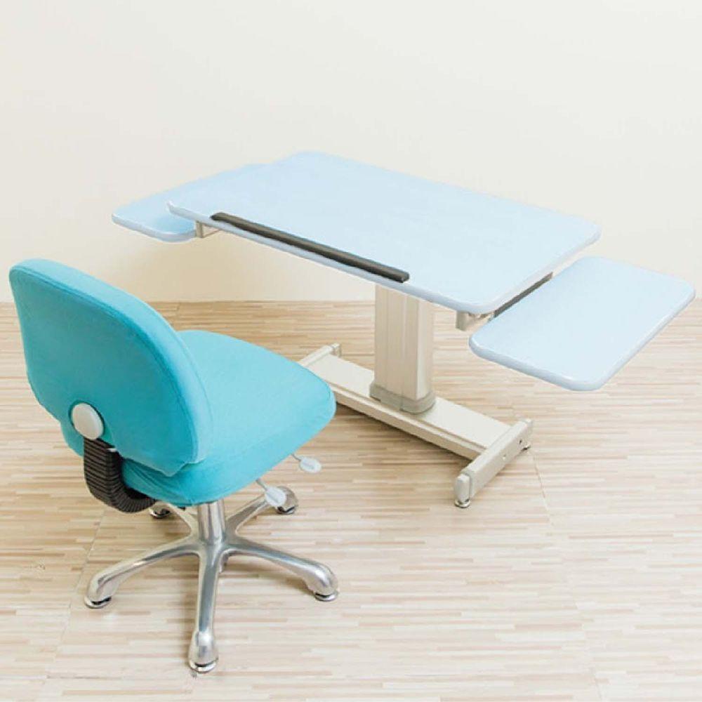 MyTolek 童樂可 - 80舒適版樂適桌+雙側板+挺立椅-湯瑪士藍