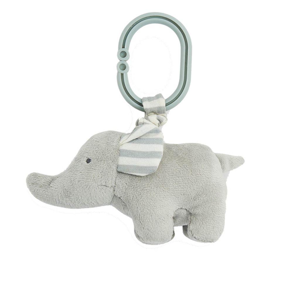 英國 JoJo Maman BeBe - 嬰兒床/推車安撫玩具_布玩系列-大象