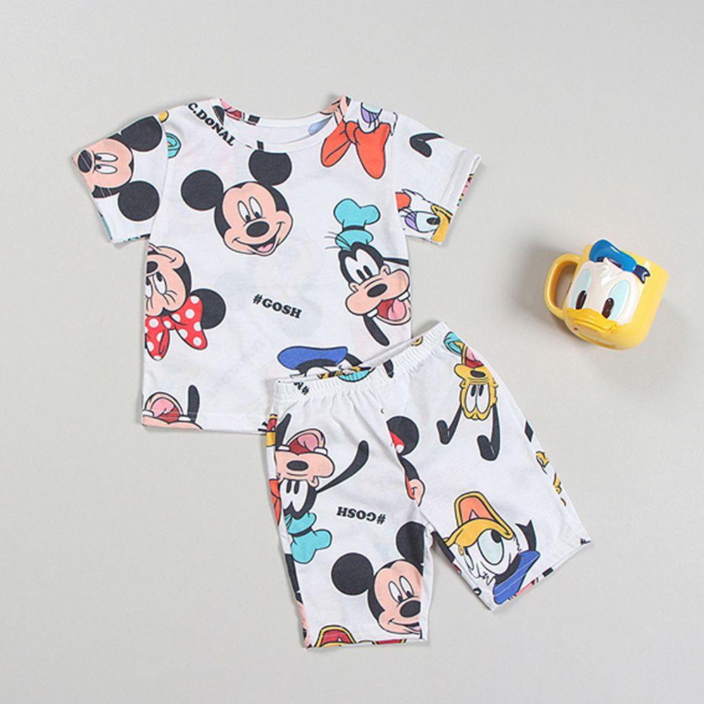 迪士尼韓製家居服-米奇家族-白