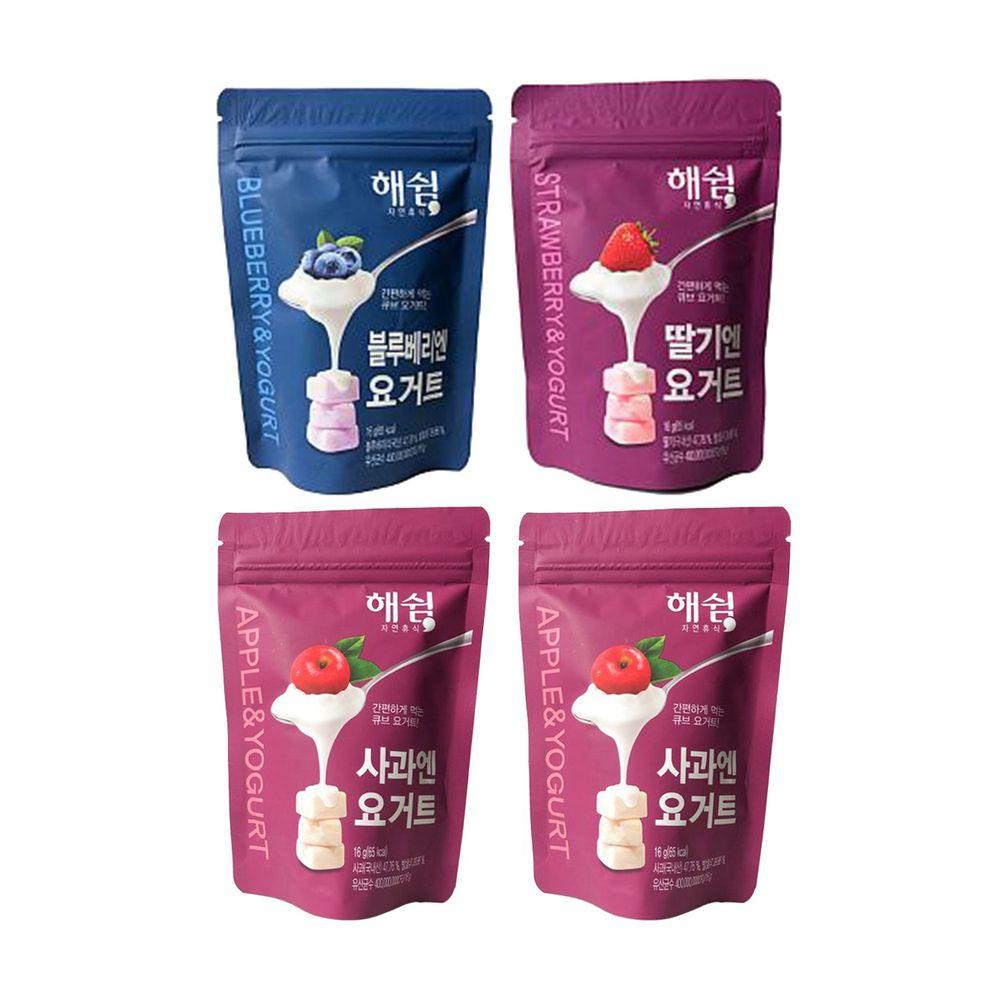 韓爸田園日記 - 優格寶寶餅乾-蘋果多多組(草莓/蘋果*2/藍莓)-1包/16公克