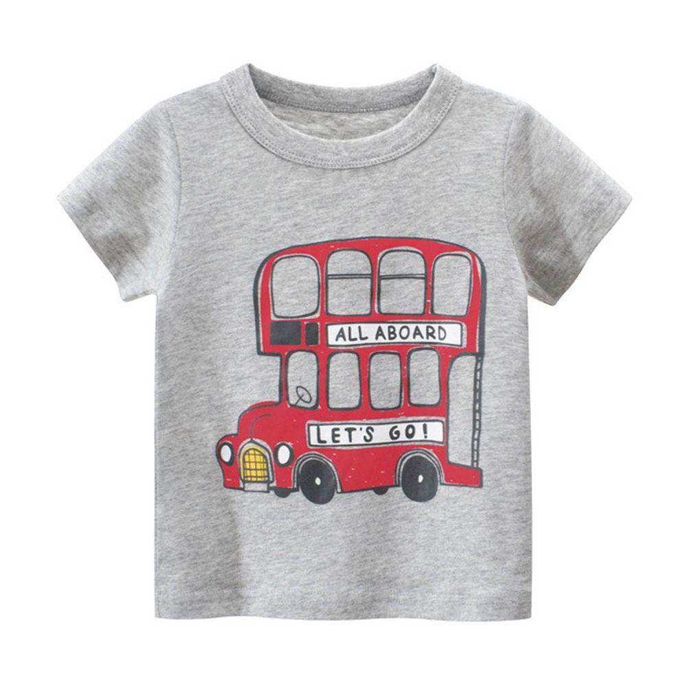 短袖棉T-英倫雙層巴士