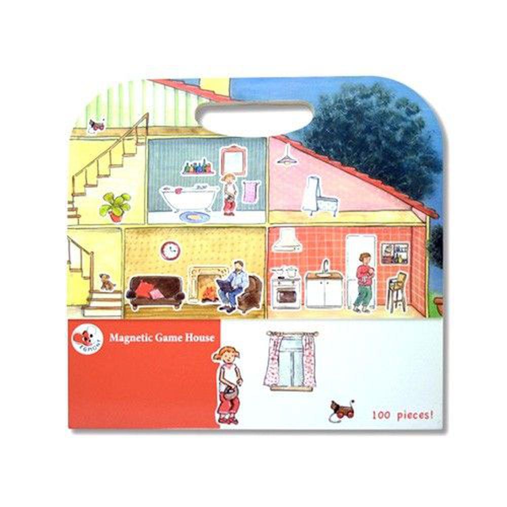 比利時艾格蒙 - 繪本風磁鐵書-可愛家庭故事屋-25x24x1 cm
