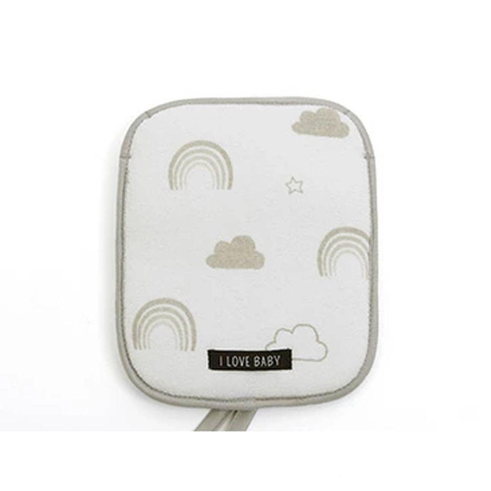 日本涼感雜貨 - 背巾/推車保冷墊 (附保冷劑/可當小背包)-灰色彩虹