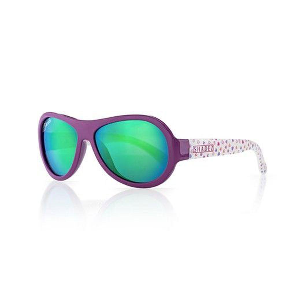 SHADEZ - 可彎折嬰幼兒時尚太陽眼鏡-紫藍愛心 (3Y~7Y)