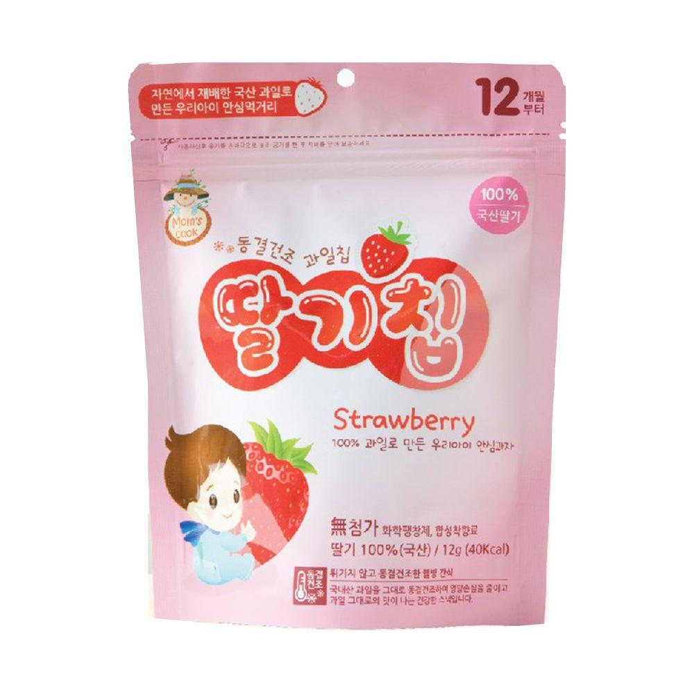 韓爸田園日記 - 寶寶乾水果片-草莓 (12個月以上)-1包/12公克