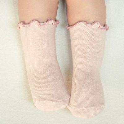 捲邊短襪-粉紅