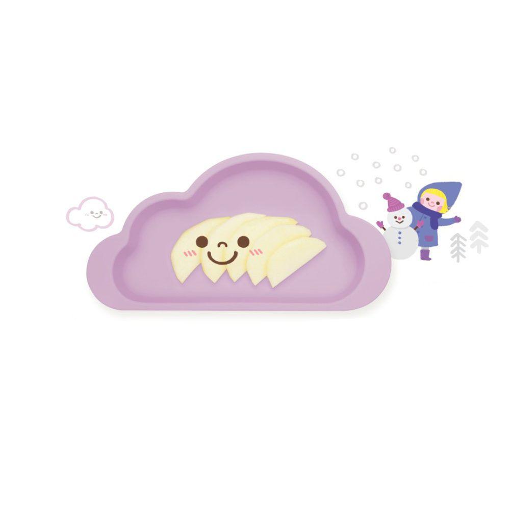 韓國 Mother's Corn - 雲朵單格矽膠餐盤-薰衣草紫-1入