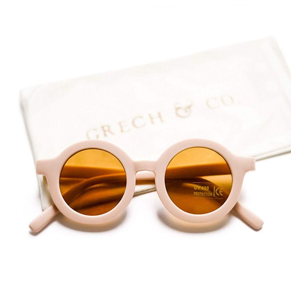 丹麥GRECH&CO - 兒童太陽眼鏡-經典款-淡粉-18個月至6歲