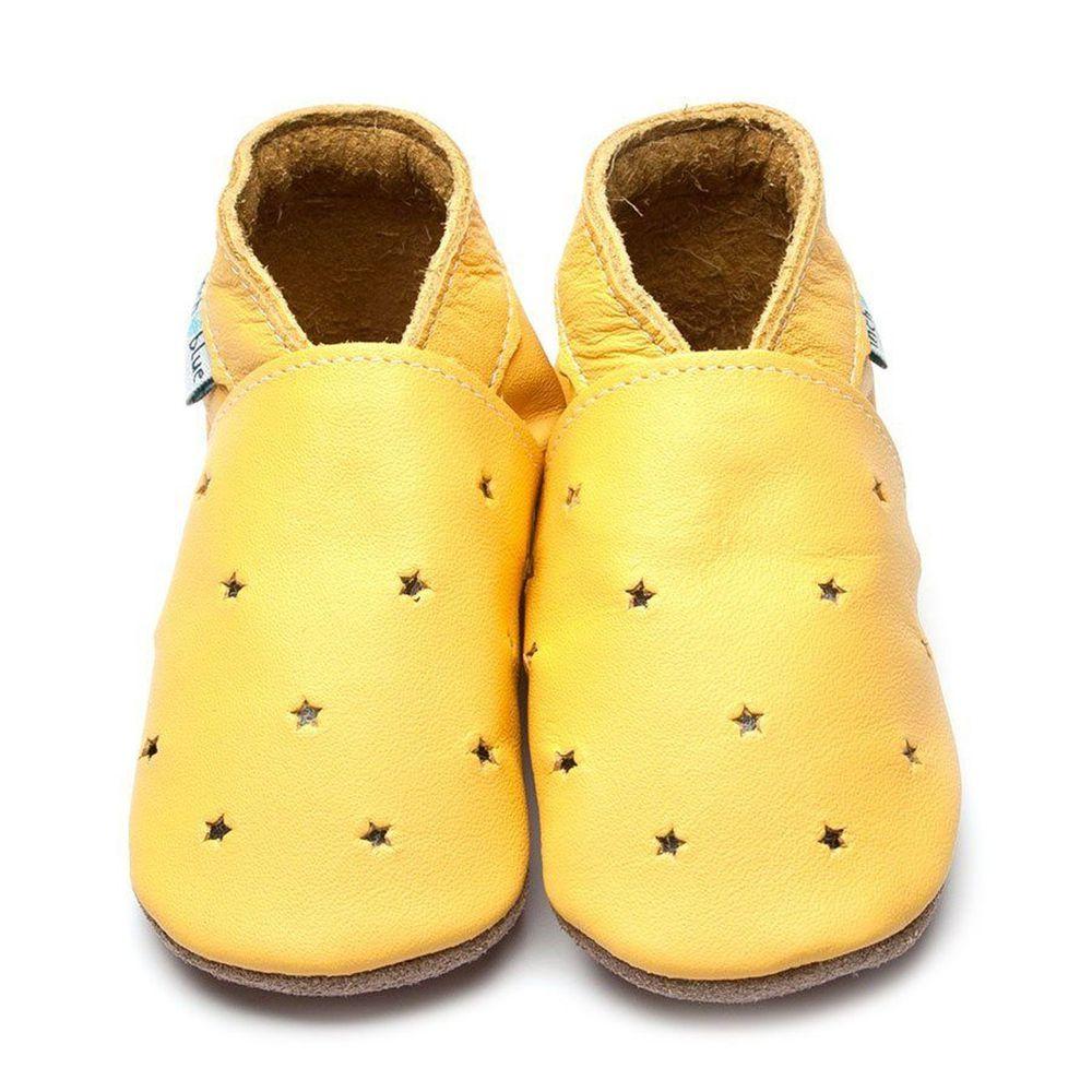 英國Inch Blue - 寶寶學步鞋-洞洞亮黃
