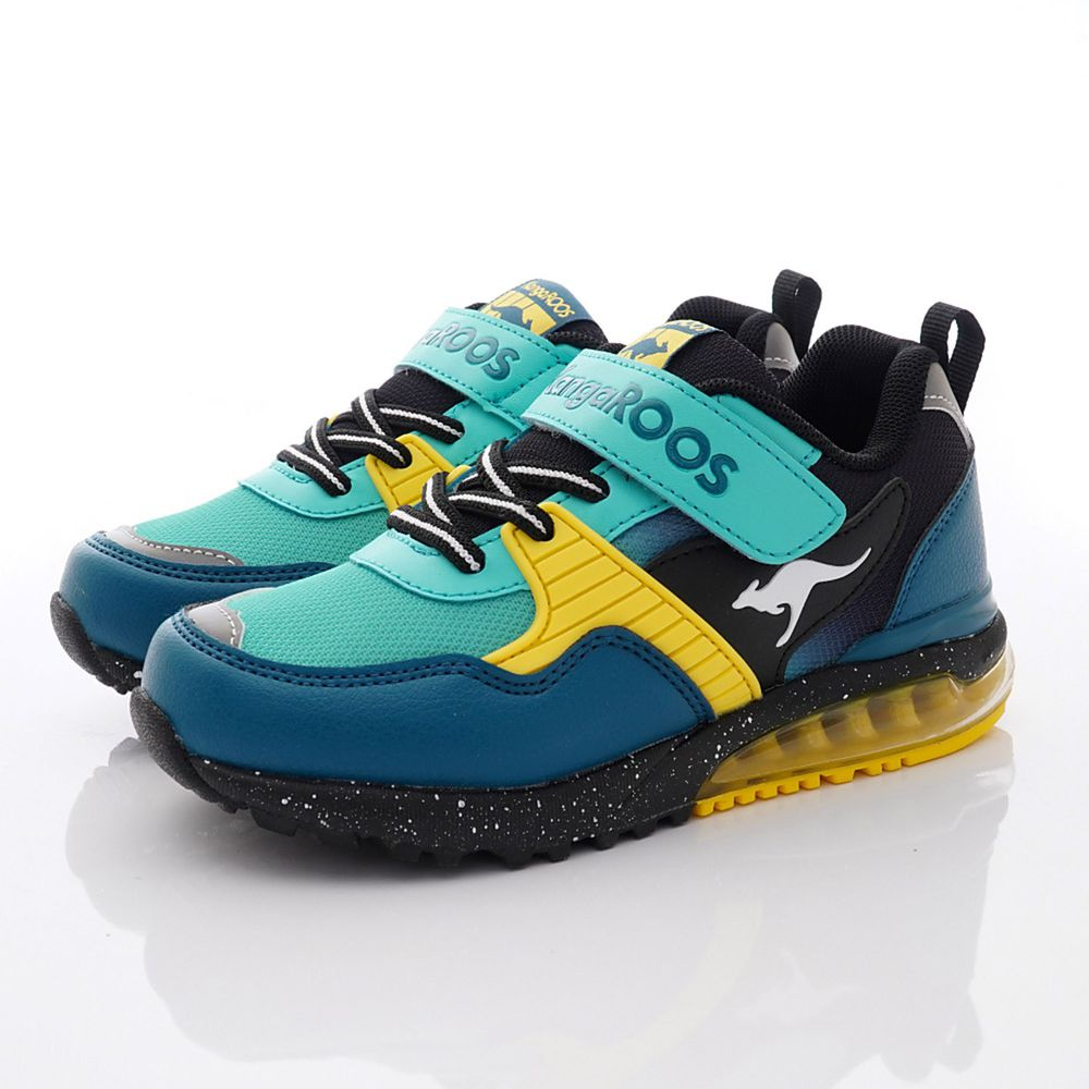 KangaROOS - 機能童鞋-袋鼠機能氣墊跑鞋款(中童段)-藍
