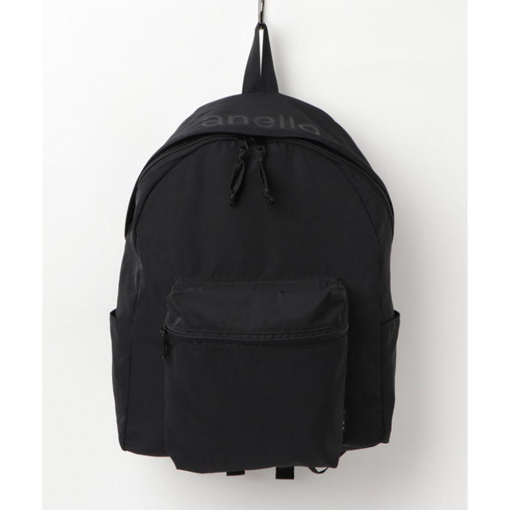 日本 Anello - 輕量休閒日後背包-Regular-BK黑色