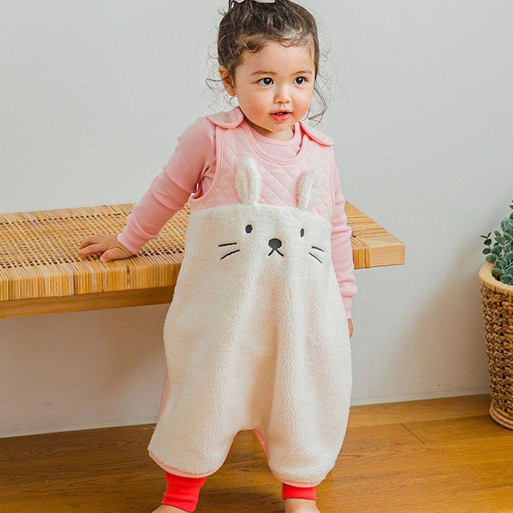 韓國 Cordi-i - 3層鋪棉保暖防踢被-粉紅白兔