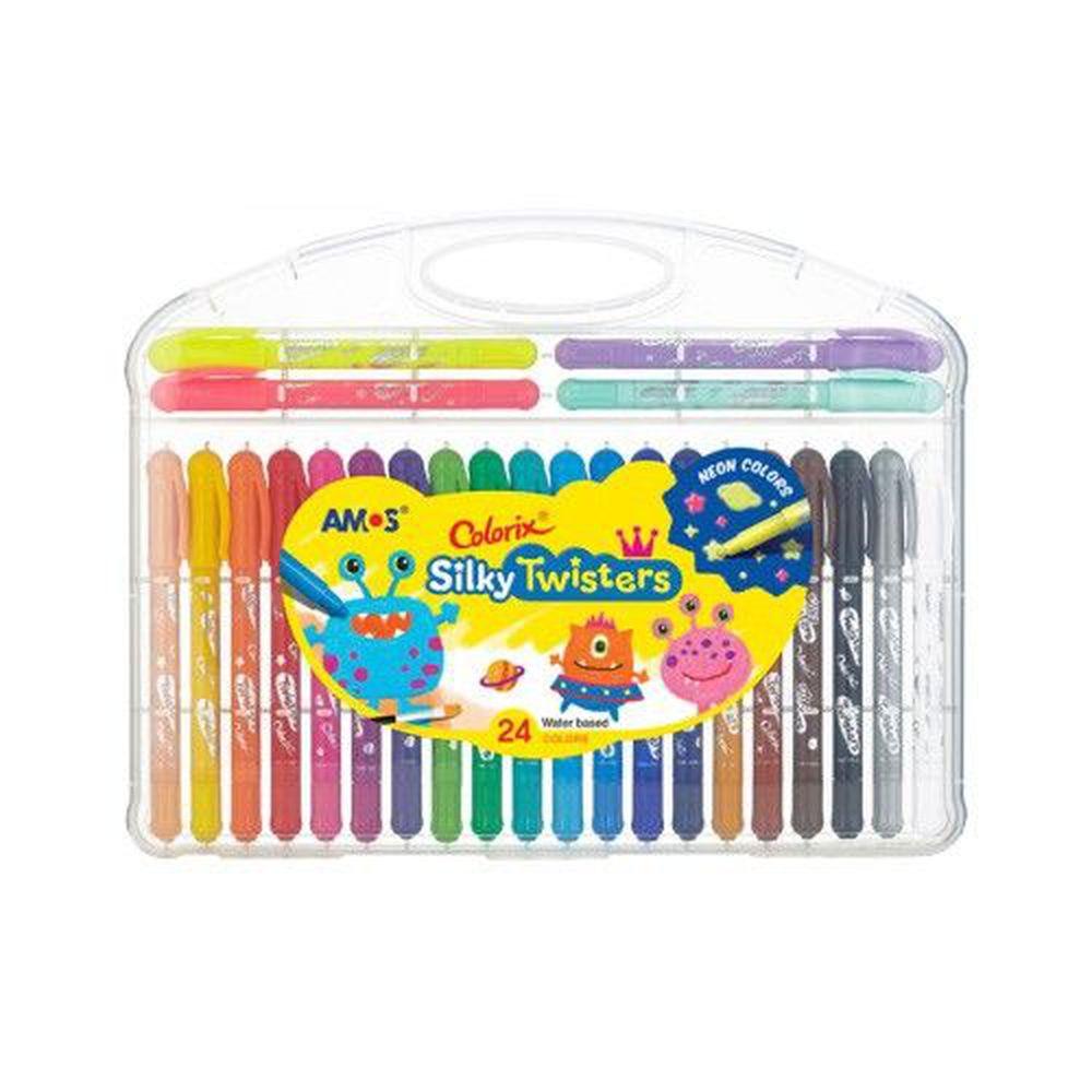韓國 AMOS - 24色細款神奇水蠟筆
