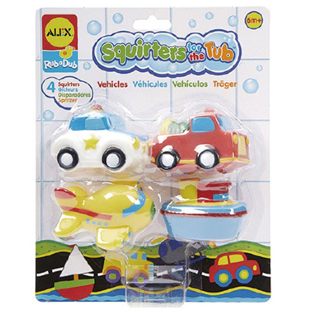 美國 ALEX - 可愛噴水洗澡組-交通工具