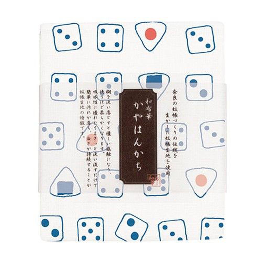 日本代購 - 【和布華】日本製奈良五重紗手帕-骰子 (30x26cm)