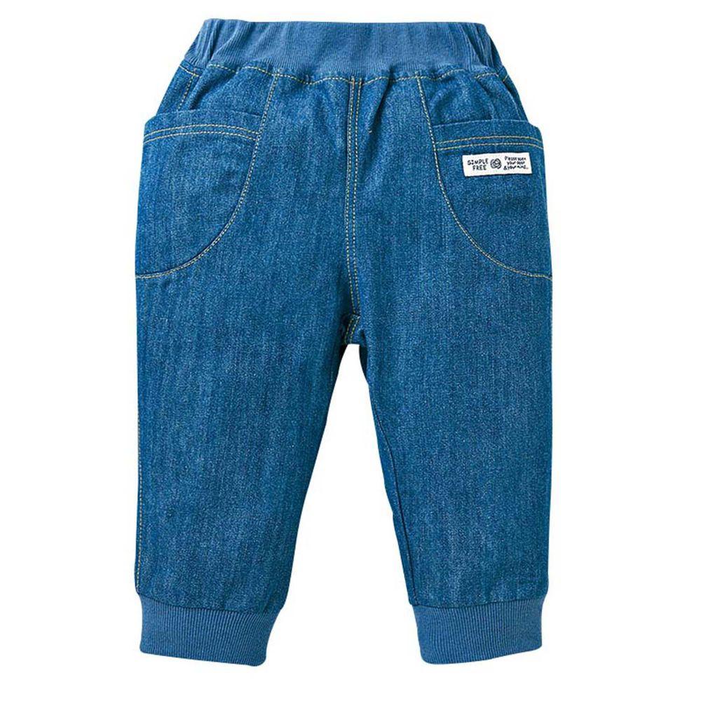 akachan honpo - 男7分馬褲-藍色