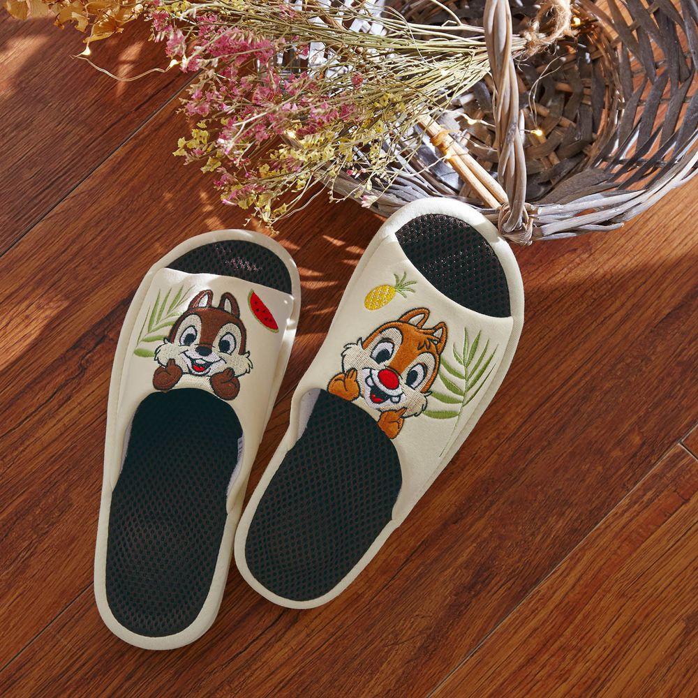 日本千趣會 - 迪士尼刺繡透氣鞋墊室內拖-奇奇蒂蒂與水果-米