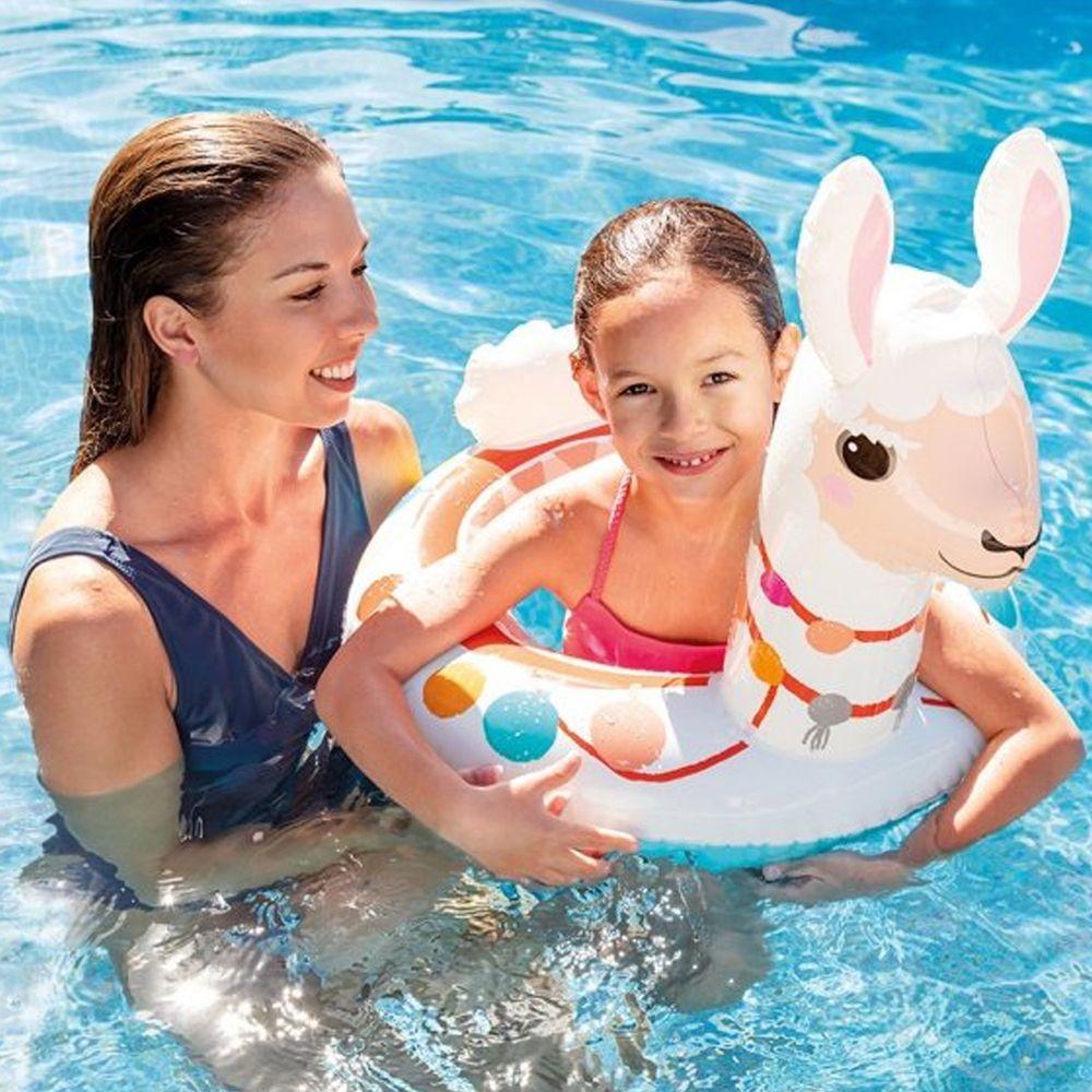 INTEX - 【限量促銷】INTEX 造型游泳圈 適用3-6歲 (58221)-羊駝