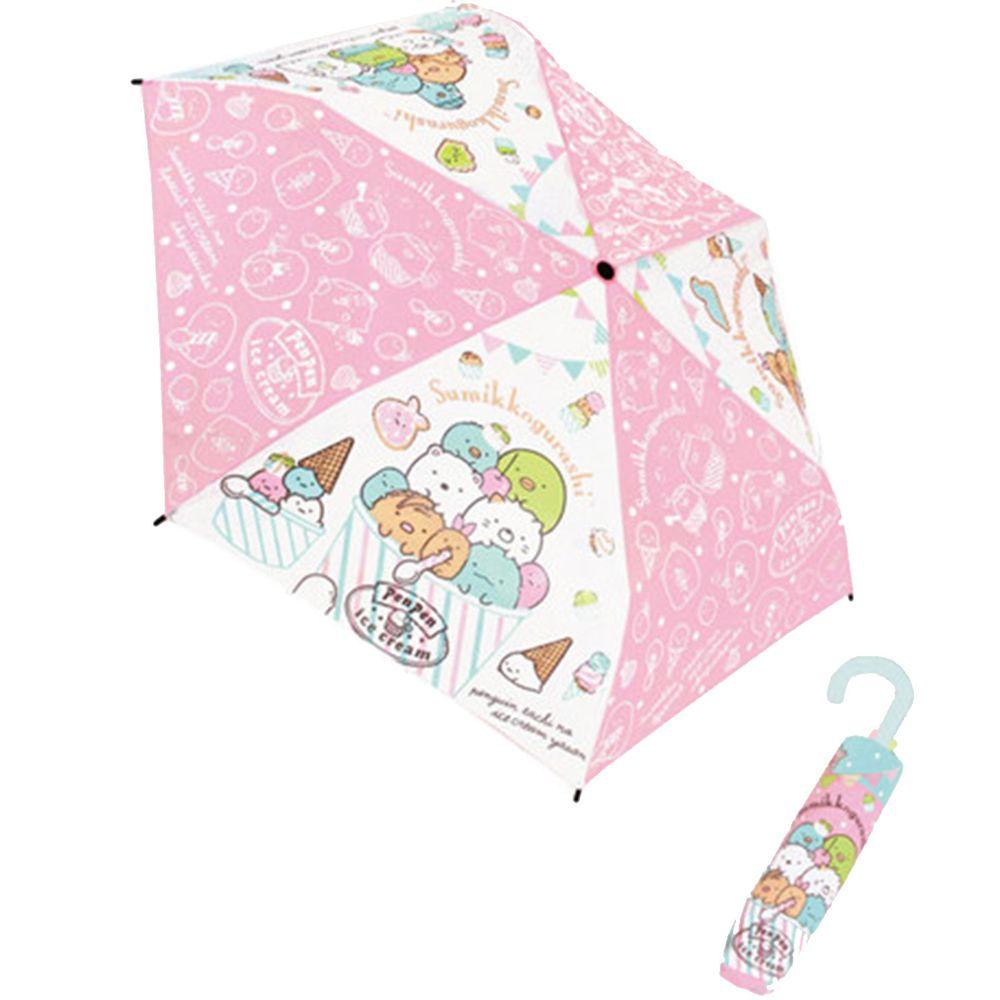 日本代購 - 卡通折疊雨傘-角落生物-粉 (53cm(125cm以上))