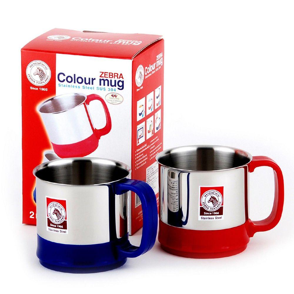 ZEBRA 斑馬 - 304不銹鋼彩色馬克杯2入-紅+藍-300CC*2