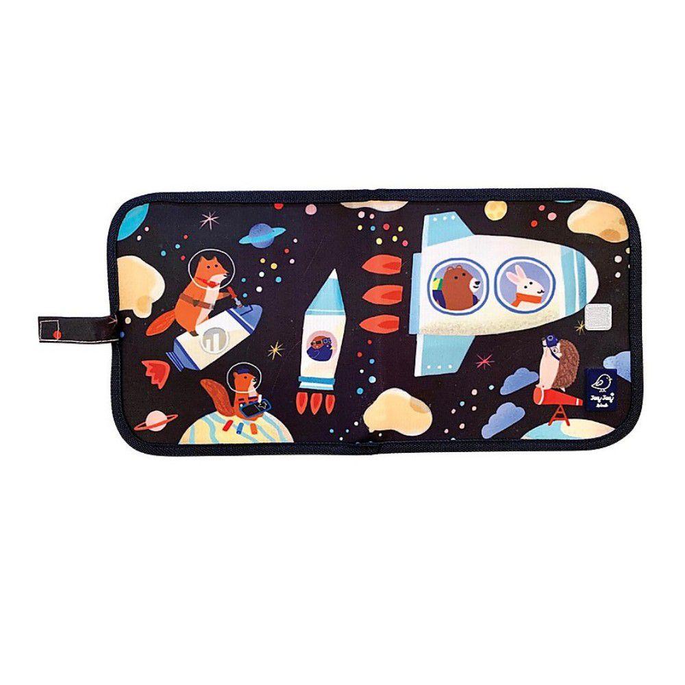 美國Jaq Jaq Bird - 攜帶型粉筆畫冊-唊喀鳥與朋友系列-太空旅遊